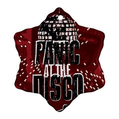 Panic At The Disco Poster Snowflake Ornament (two Sides)