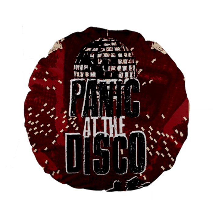 Panic At The Disco Poster Standard 15  Premium Flano Round Cushions