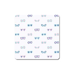 Cute Sexy Funny Sunglasses Kids Pink Blue Square Magnet