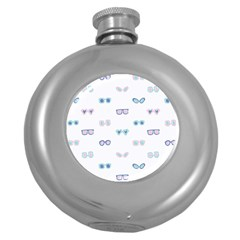 Cute Sexy Funny Sunglasses Kids Pink Blue Round Hip Flask (5 Oz)