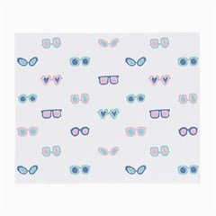 Cute Sexy Funny Sunglasses Kids Pink Blue Small Glasses Cloth (2 Side)