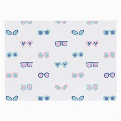 Cute Sexy Funny Sunglasses Kids Pink Blue Large Glasses Cloth (2 Side)