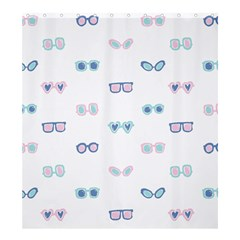 Cute Sexy Funny Sunglasses Kids Pink Blue Shower Curtain 66  X 72  (large)