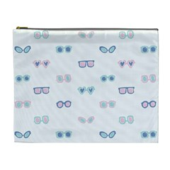 Cute Sexy Funny Sunglasses Kids Pink Blue Cosmetic Bag (xl)