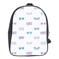Cute Sexy Funny Sunglasses Kids Pink Blue School Bag (large)
