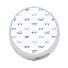 Cute Sexy Funny Sunglasses Kids Pink Blue 4 Port Usb Hub (two Sides)