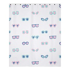Cute Sexy Funny Sunglasses Kids Pink Blue Shower Curtain 60  X 72  (medium)