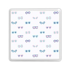 Cute Sexy Funny Sunglasses Kids Pink Blue Memory Card Reader (square)
