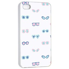 Cute Sexy Funny Sunglasses Kids Pink Blue Apple Iphone 4/4s Seamless Case (white)