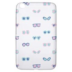 Cute Sexy Funny Sunglasses Kids Pink Blue Samsung Galaxy Tab 3 (8 ) T3100 Hardshell Case