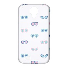Cute Sexy Funny Sunglasses Kids Pink Blue Samsung Galaxy S4 Classic Hardshell Case (pc+silicone)