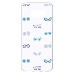 Cute Sexy Funny Sunglasses Kids Pink Blue Samsung Galaxy S8 Plus White Seamless Case