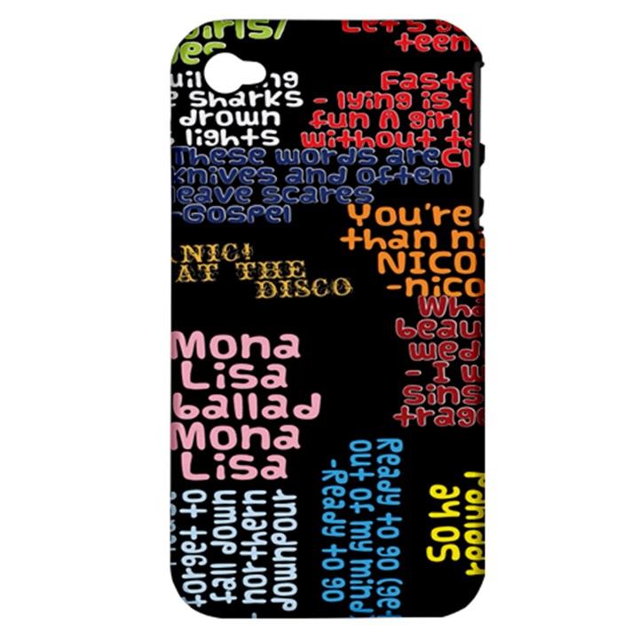 Panic At The Disco Northern Downpour Lyrics Metrolyrics Apple iPhone 4/4S Hardshell Case (PC+Silicone)