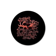 Panic At The Disco   Lying Is The Most Fun A Girl Have Without Taking Her Clothes Rubber Round Coaster (4 Pack)