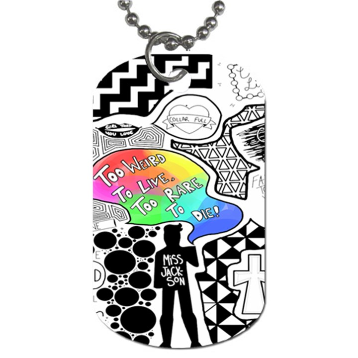 Panic ! At The Disco Dog Tag (One Side)