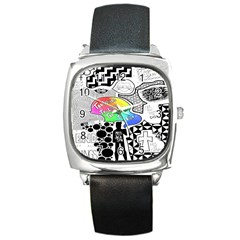 Panic ! At The Disco Square Metal Watch