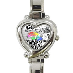 Panic ! At The Disco Heart Italian Charm Watch