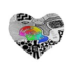 Panic ! At The Disco Standard 16  Premium Flano Heart Shape Cushions Front