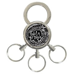 Panic ! At The Disco Lyric Quotes 3 Ring Key Chains
