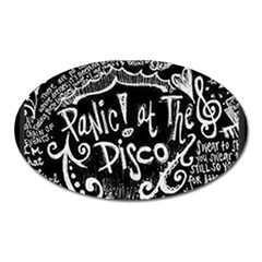Panic ! At The Disco Lyric Quotes Oval Magnet
