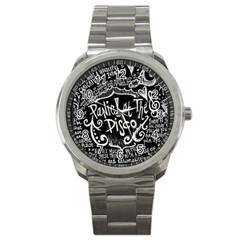 Panic ! At The Disco Lyric Quotes Sport Metal Watch