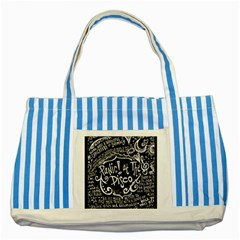 Panic ! At The Disco Lyric Quotes Striped Blue Tote Bag