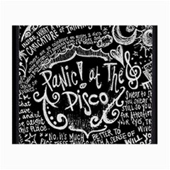Panic ! At The Disco Lyric Quotes Small Glasses Cloth (2 Side)