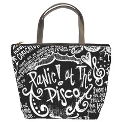 Panic ! At The Disco Lyric Quotes Bucket Bags
