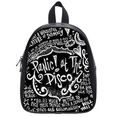 Panic ! At The Disco Lyric Quotes School Bag (small)