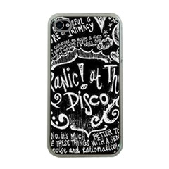 Panic ! At The Disco Lyric Quotes Apple Iphone 4 Case (clear)