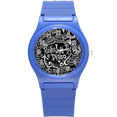 Panic ! At The Disco Lyric Quotes Round Plastic Sport Watch (s)