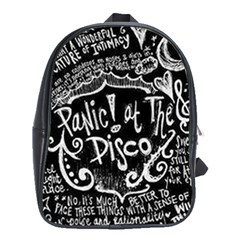 Panic ! At The Disco Lyric Quotes School Bag (xl)