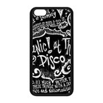 Panic ! At The Disco Lyric Quotes Apple iPhone 5C Seamless Case (Black) Front