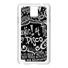 Panic ! At The Disco Lyric Quotes Samsung Galaxy Note 3 N9005 Case (white)