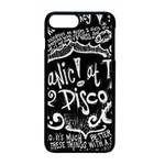 Panic ! At The Disco Lyric Quotes Apple iPhone 7 Plus Seamless Case (Black) Front