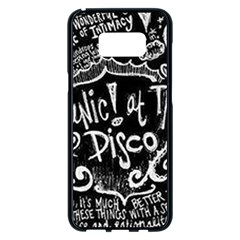 Panic ! At The Disco Lyric Quotes Samsung Galaxy S8 Plus Black Seamless Case