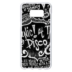 Panic ! At The Disco Lyric Quotes Samsung Galaxy S8 Plus White Seamless Case
