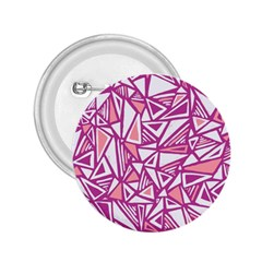 Conversational Triangles Pink White 2 25  Buttons