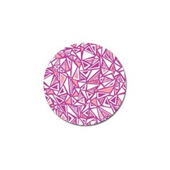 Conversational Triangles Pink White Golf Ball Marker (4 Pack)