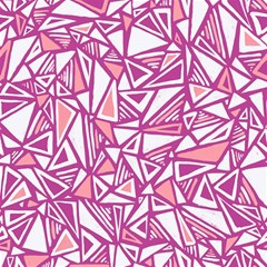 Conversational Triangles Pink White Canvas 12  X 12