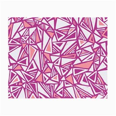 Conversational Triangles Pink White Small Glasses Cloth (2 Side)