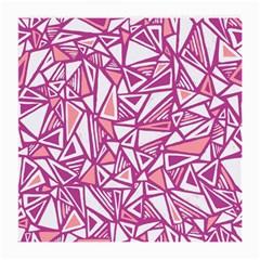Conversational Triangles Pink White Medium Glasses Cloth