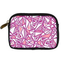 Conversational Triangles Pink White Digital Camera Cases