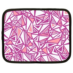 Conversational Triangles Pink White Netbook Case (xxl)