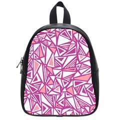 Conversational Triangles Pink White School Bag (small)