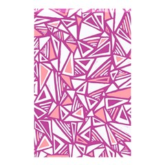 Conversational Triangles Pink White Shower Curtain 48  X 72  (small)