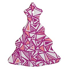 Conversational Triangles Pink White Ornament (christmas Tree)