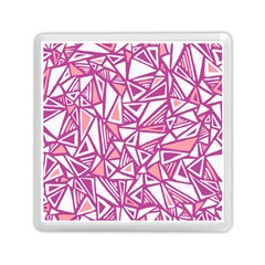 Conversational Triangles Pink White Memory Card Reader (square)