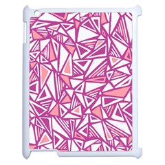 Conversational Triangles Pink White Apple Ipad 2 Case (white)