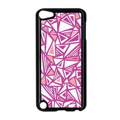 Conversational Triangles Pink White Apple Ipod Touch 5 Case (black)